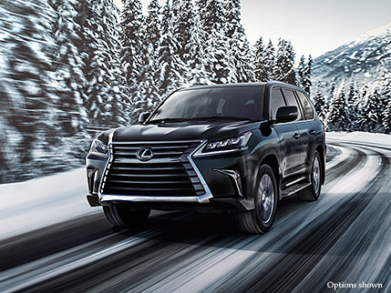 Exterior shot of the 2018 Lexus LX in Black Onyx