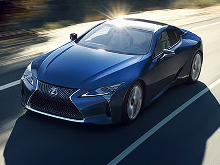 Lexus LC 500h shown in Nightfall Mica.