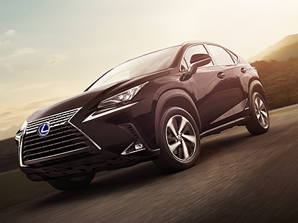 Lexus NX Hybrid shown in Caviar.