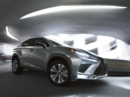 Lexus NX F SPORT shown in Atomic Silver.