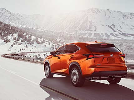 Lexus NX F SPORT shown in available Cadmium Orange.