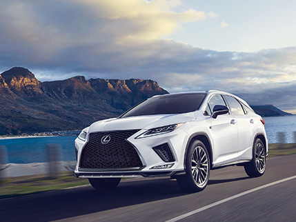 Lexus RX F SPORT shown in Ultra White.