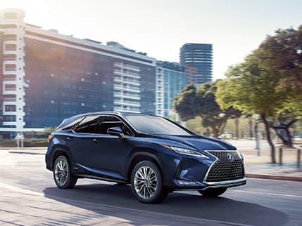 Lexus RXL Hybrid shown in Nightfall Mica.