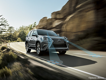 Exterior shot of the Lexus GX 460 shown in Nebula Gray Pearl.