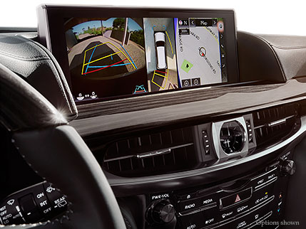 Interior shot of the 2018 Lexus LX multi-view screen.