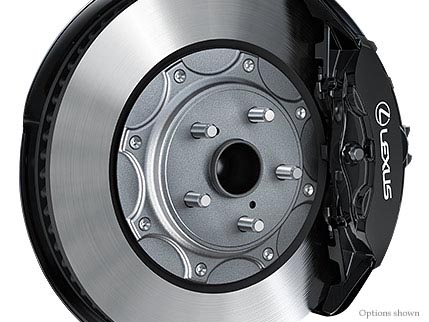 """HIGH-PERFORMANCE BRAKES<span class='tooltip-trigger disclaimer' data-disclaimers='[{""""code"""":""""BRAKESHF3"""",""""isTerms"""":false,""""body"""":""""High-friction brakes require periodic inspection and measurement as outlined in the <em style=\""""font-style:italic;\"""">Warranty and Services Guide</em>. The pads and rotors are expected to experience greater wear than conventional brakes. Pad life may be less than 20,000 miles, and brake rotor life may be less than 50,000 miles depending on driving conditions. It is an inherent characteristic of materials and design of brake pads used in this high-performance brake system that brake noise/squeal may result.""""}]'><span class='asterisk'>*</span></span>"""