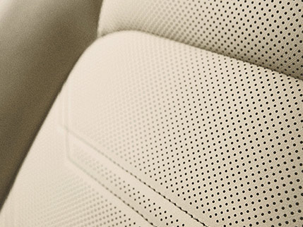 Image of PERFORATED LEATHER–TRIMMED INTERIOR