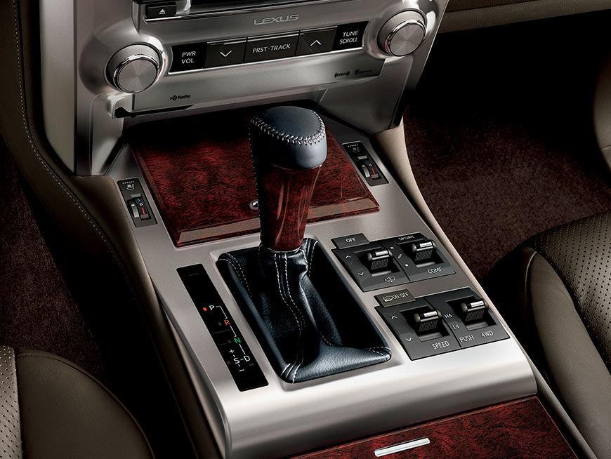 Interior shot of the 2019 Lexus GX center console.