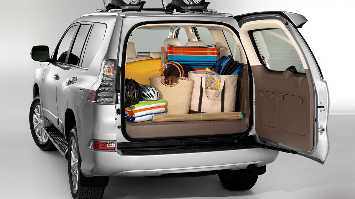 Shot of the rear cargo area of the 2019 Lexus GX 460.
