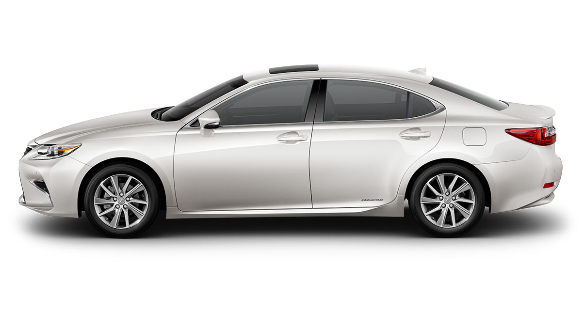 2018 Lexus ES Hybrid shown in Eminent White Pearl.