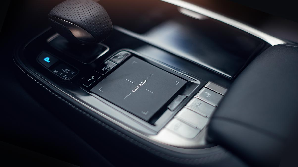 Interior of the LS F SPORT showing the Remote Touchpad.