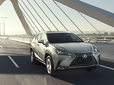 Exterior shot of the 2018 Lexus NX shown in Atomic Silver