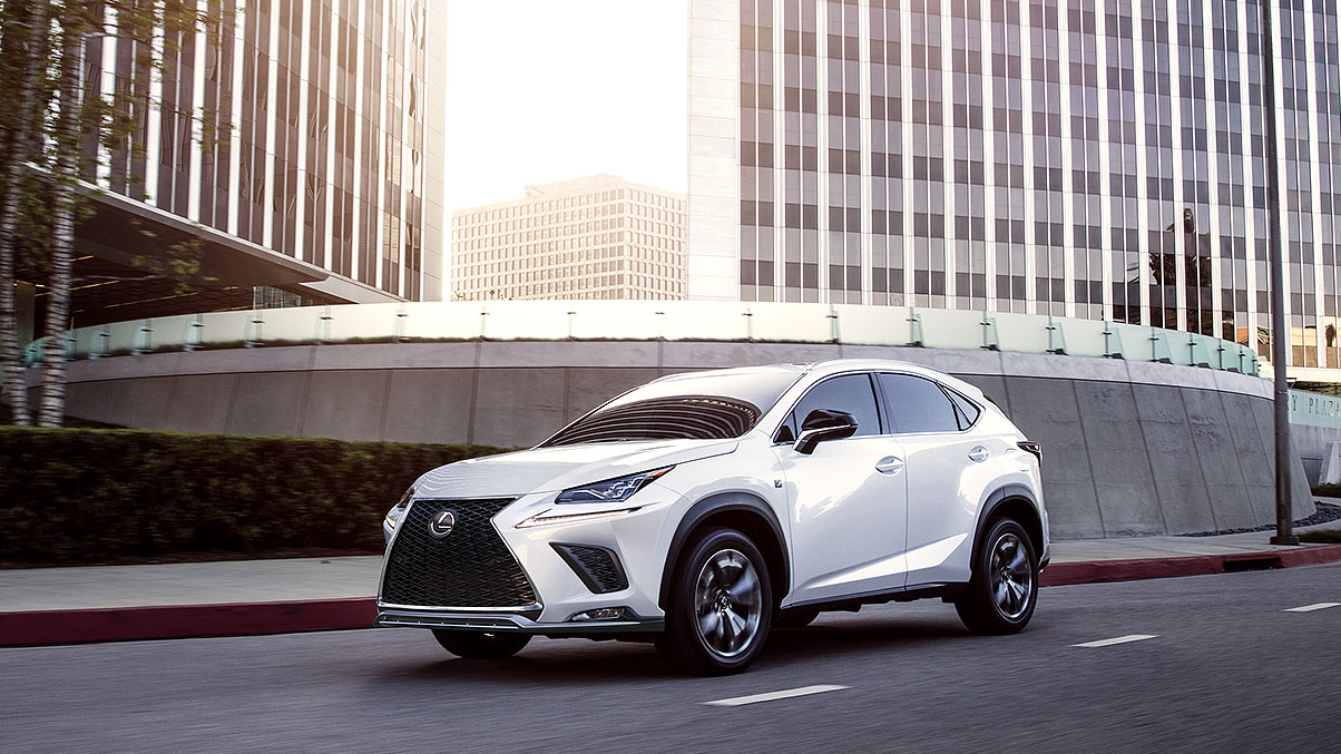 Lexus NX F SPORT shown in Ultra White.