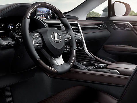 Interior shot of the 2019 Lexus RX Hybrid.