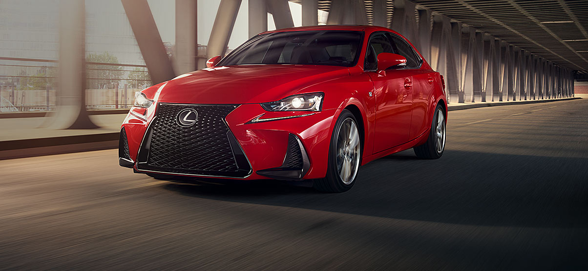 Exterior Shot Of The 2018 Lexus IS 300 F Sport Shown In Redline.
