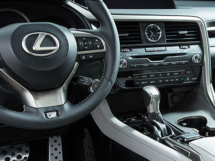Interior shot of the 2019 Lexus RX F Sport