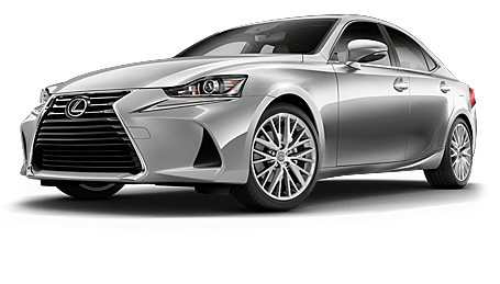 Lexus IS shown in Silver Lining Metallic.