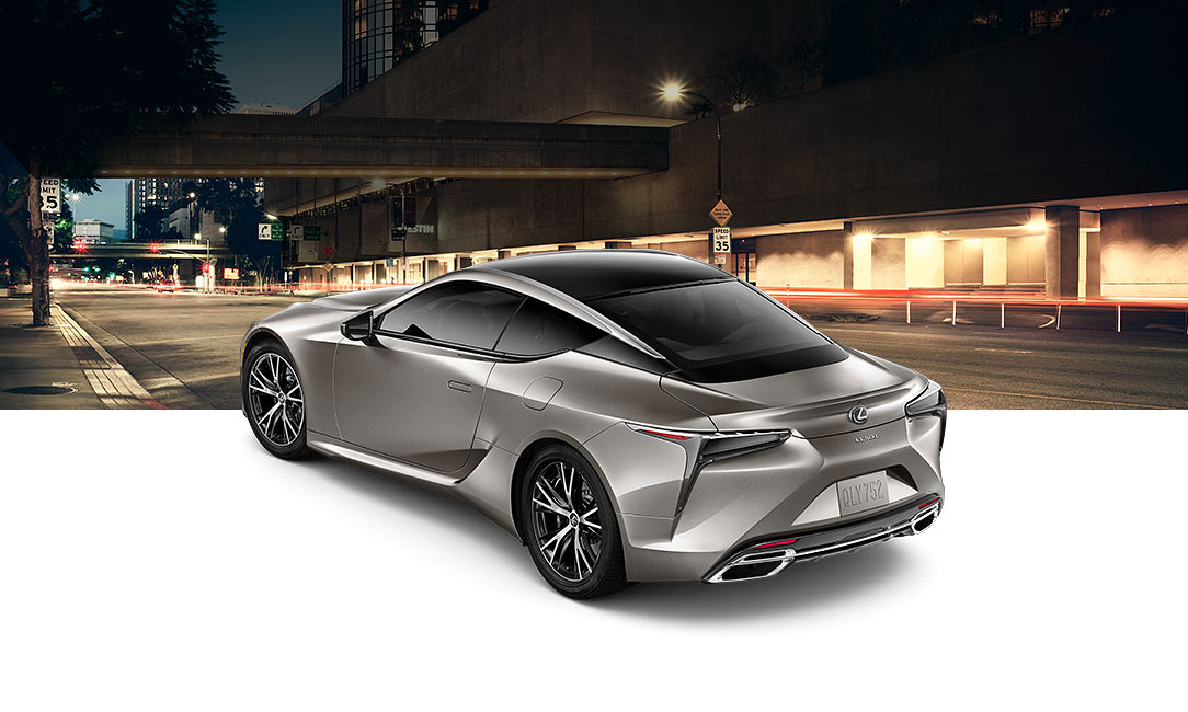 Lexus LC 500 shown in Atomic Silver.