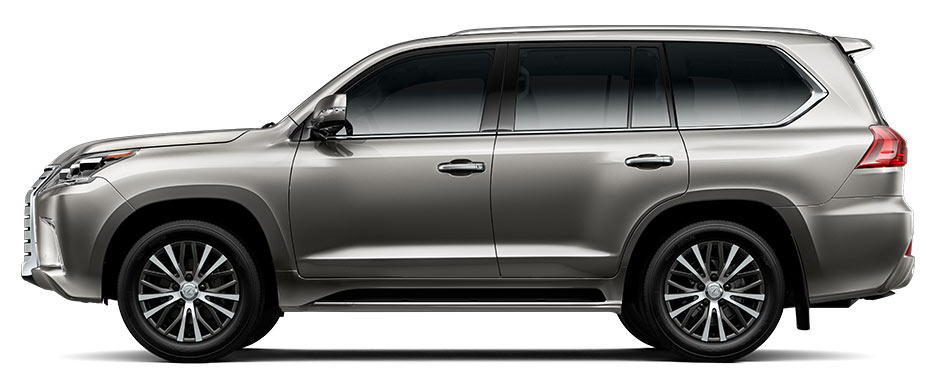 Side exterior shot of the 2017 Lexus LX