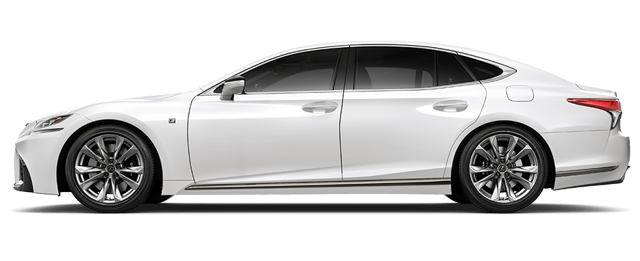 Lexus LS F SPORT shown in Ultra White.
