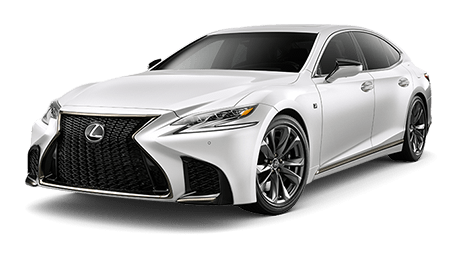 Lexus LS shown in Ultra White.