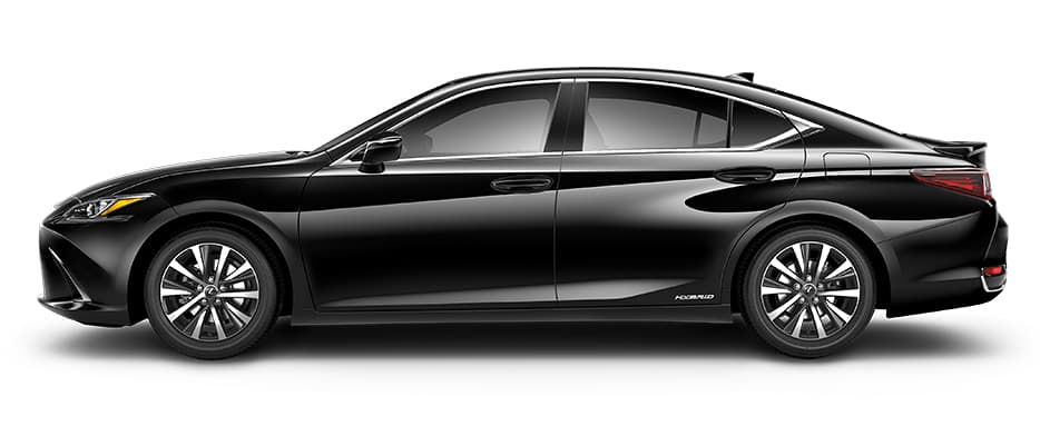 Lexus ES Hybrid shown in Obsidian.