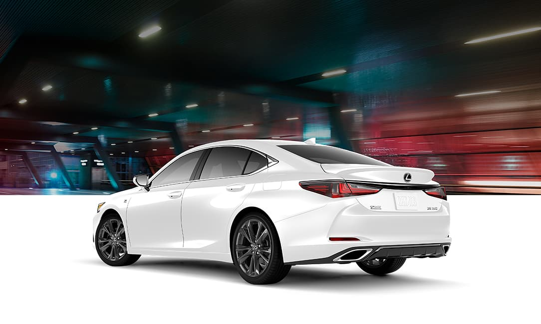 Lexus ES F SPORT shown in Obsidian.