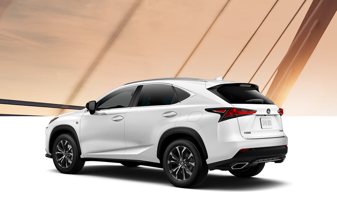 Lexus NX 300 F SPORT shown in Ultra White.