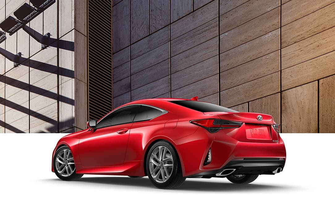 Lexus RC shown in Infrared.