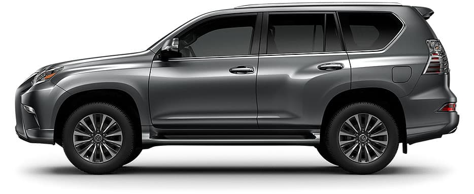 Lexus GX shown in Nebula Gray Pearl.