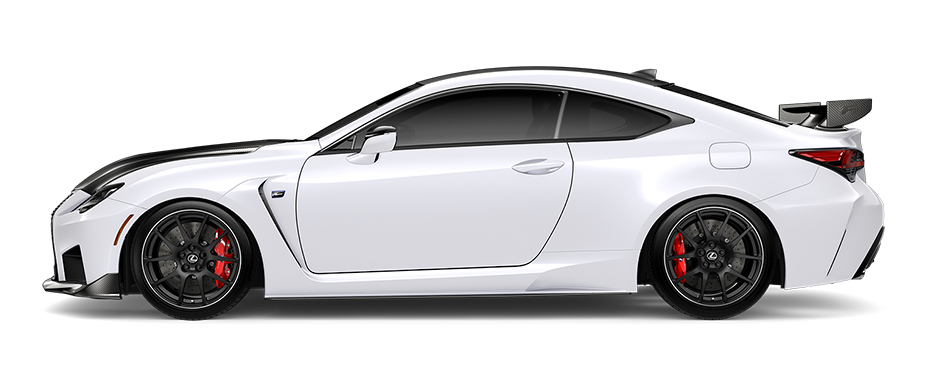 2020 RC F Track Edition shown in available Ultra White.