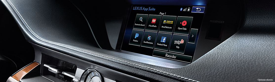 """LEXUS ENFORM APP SUITE<span class='tooltip-trigger disclaimer' data-disclaimers='[{""""code"""":""""ENFORM10"""",""""isTerms"""":false,""""body"""":""""Be sure to obey traffic regulations and maintain awareness of road and traffic conditions at all times. Apps/services vary by phone/carrier; functionality depends on many factors. Select apps use large amounts of data; you are responsible for charges. Apps & services subject to change. See lexus.com/enform for details.""""}]'><span class='asterisk'>*</span></span>"""