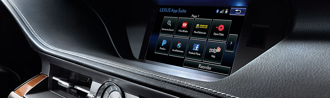 "LEXUS ENFORM APP SUITE<span class='tooltip-trigger disclaimer' data-disclaimers='[{""code"":""ENFORM10"",""isTerms"":false,""body"":""Be sure to obey traffic regulations and maintain awareness of road and traffic conditions at all times. Apps/services vary by phone/carrier; functionality depends on many factors. Select apps use large amounts of data; you are responsible for charges. Apps & services subject to change. See lexus.com/enform for details.""}]'><span class='asterisk'>*</span></span>"