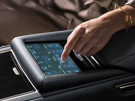 Image of REAR-SEAT TOUCHSCREEN CONTROLS