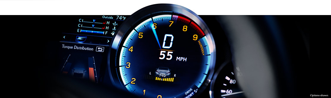 RACE-READY GAUGE CLUSTER WITH MULTI-INFORMATION DISPLAY