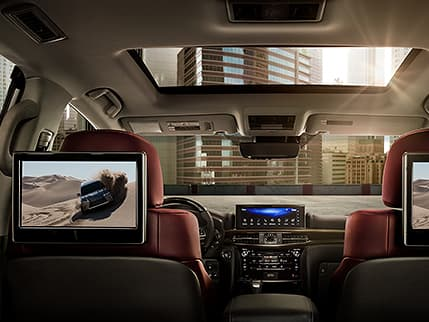 Image of DUAL-SCREEN REAR-SEAT ENTERTAINMENT SYSTEM