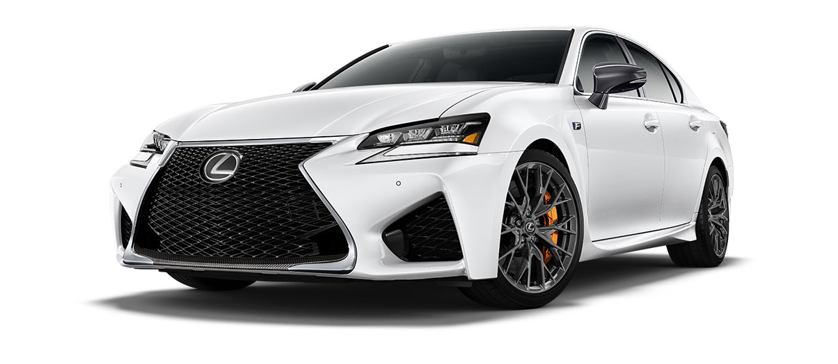 2017 gsf   in Ultra White with '19-inch split-10-spoke forged alloy wheels<span class='tooltip-trigger disclaimer' data-disclaimers='[{\'code\':\'TIREWEAR5\',\'isTerms\':false,\'body\':\'19-in performance tires are expected to experience greater tire wear than conventional tires.  Tire life may be substantially less than 15,000 miles, depending upon driving conditions.\'}]'><span class='asterisk'>*</span></span>' angle1