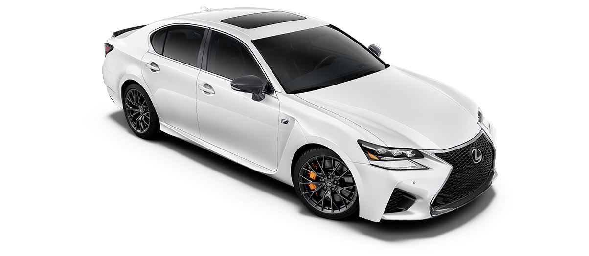 2017 gsf   in Ultra White with '19-inch split-10-spoke forged alloy wheels<span class='tooltip-trigger disclaimer' data-disclaimers='[{\'code\':\'TIREWEAR5\',\'isTerms\':false,\'body\':\'19-in performance tires are expected to experience greater tire wear than conventional tires.  Tire life may be substantially less than 15,000 miles, depending upon driving conditions.\'}]'><span class='asterisk'>*</span></span>' angle3