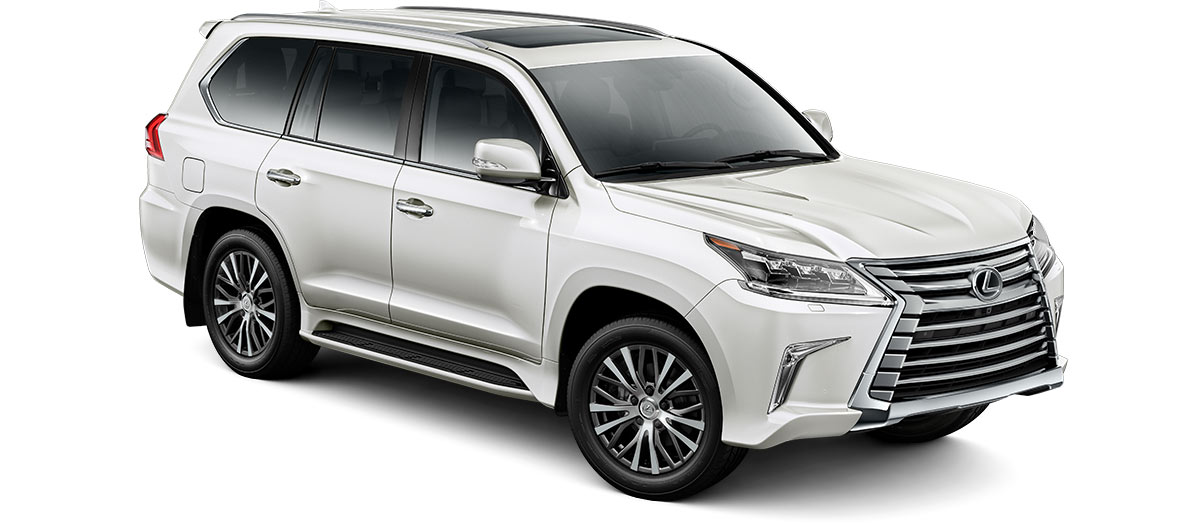 2017 lx 570 in Starfire Pearl with '20-in five-spoke alloy wheels<span class='tooltip-trigger disclaimer' data-disclaimers='[{\'code\':\'TIREWEAR11\',\'isTerms\':false,\'body\':\'20- or 21-in performance tires are expected to experience greater tire wear than conventional tires. Tire life may be substantially less than 20,000 miles, depending upon tire used and driving conditions.\'}]'><span class='asterisk'>*</span></span> (Standard)' angle2