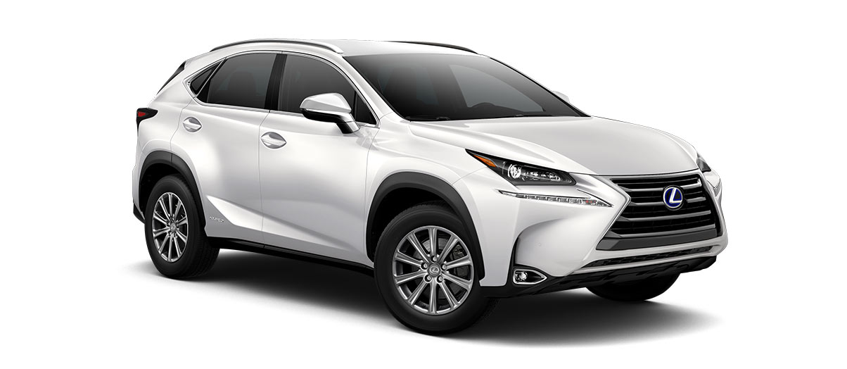 2017 nx 300h in Eminent White Pearl with '17-in 10-spoke alloy wheels<span class='tooltip-trigger disclaimer' data-disclaimers='[{\'code\':\'TIREWEAR1\',\'isTerms\':false,\'body\':\'17-in performance tires are expected to experience greater tire wear than conventional tires.  Tire life may be substantially less than 20,000 miles, depending upon driving conditions.\'}]'><span class='asterisk'>*</span></span>' angle4