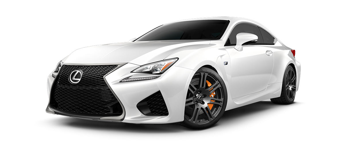 2017 rcf   in Ultra White with '19-in split-seven-spoke forged alloy wheels<span class='tooltip-trigger disclaimer' data-disclaimers='[{\'code\':\'TIREWEAR5\',\'isTerms\':false,\'body\':\'19-in performance tires are expected to experience greater tire wear than conventional tires.  Tire life may be substantially less than 15,000 miles, depending upon driving conditions.\'}]'><span class='asterisk'>*</span></span>' angle1