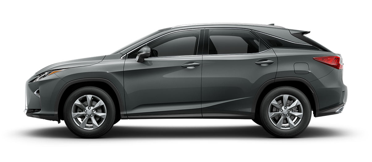 2017 rx 350 in Nebula Gray Pearl with '18-in seven-spoke alloy wheels<span class='tooltip-trigger disclaimer' data-disclaimers='[{\'code\':\'TIREWEAR2\',\'isTerms\':false,\'body\':\'18-in performance tires are expected to experience greater tire wear than conventional tires.  Tire life may be substantially less than 15,000 miles, depending upon driving conditions.\'}]'><span class='asterisk'>*</span></span>' angle5