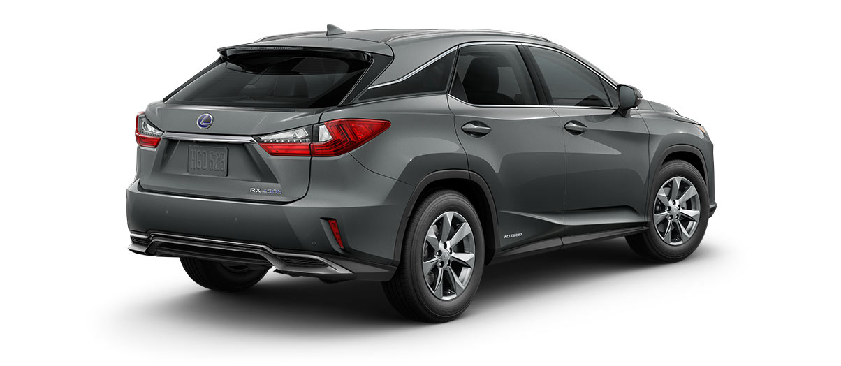 2017 rx 450h in Nebula Gray Pearl with '18-in seven-spoke alloy wheels<span class='tooltip-trigger disclaimer' data-disclaimers='[{\'code\':\'TIREWEAR2\',\'isTerms\':false,\'body\':\'18-in performance tires are expected to experience greater tire wear than conventional tires.  Tire life may be substantially less than 15,000 miles, depending upon driving conditions.\'}]'><span class='asterisk'>*</span></span>' angle2