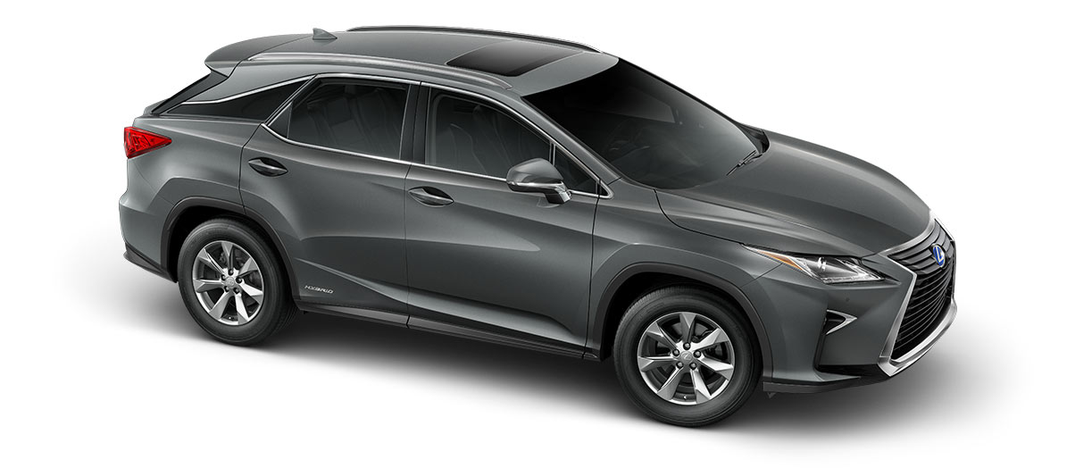 2017 rx 450h in Nebula Gray Pearl with '18-in seven-spoke alloy wheels<span class='tooltip-trigger disclaimer' data-disclaimers='[{\'code\':\'TIREWEAR2\',\'isTerms\':false,\'body\':\'18-in performance tires are expected to experience greater tire wear than conventional tires. Tire life may be substantially less than 15,000 miles, depending upon driving conditions.\'}]'><span class='asterisk'>*</span></span>' angle3