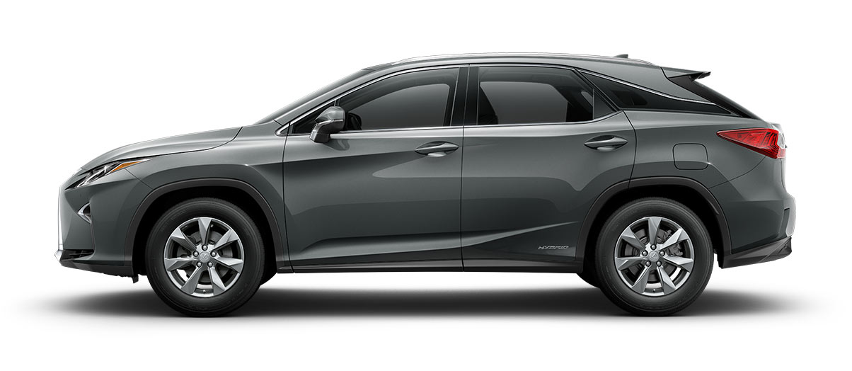 2017 rx 450h in Nebula Gray Pearl with '18-in seven-spoke alloy wheels<span class='tooltip-trigger disclaimer' data-disclaimers='[{\'code\':\'TIREWEAR2\',\'isTerms\':false,\'body\':\'18-in performance tires are expected to experience greater tire wear than conventional tires. Tire life may be substantially less than 15,000 miles, depending upon driving conditions.\'}]'><span class='asterisk'>*</span></span>' angle5