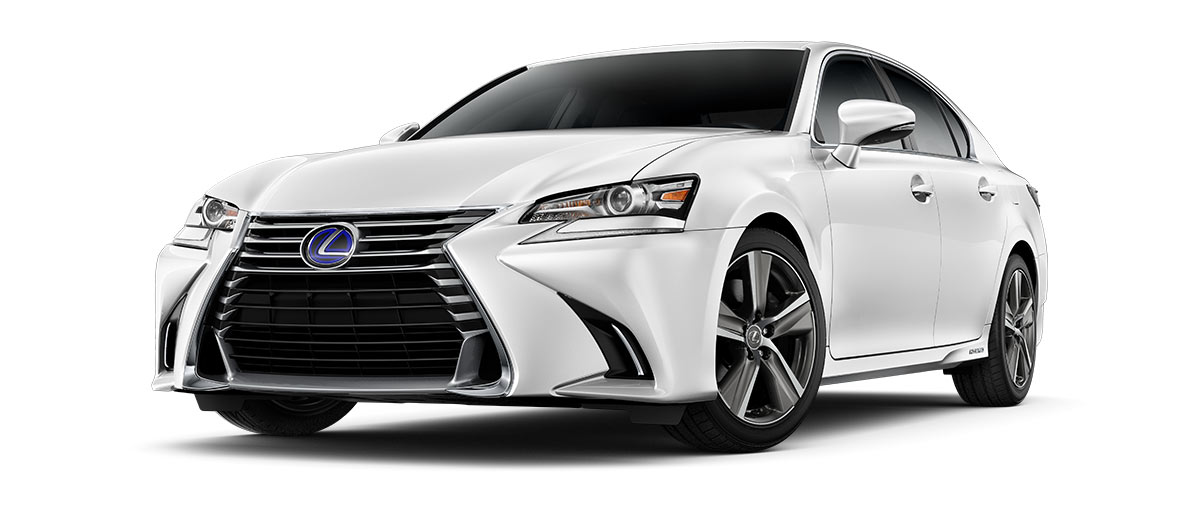 2018 gs 450h in Eminent White Pearl with '18-inch five-spoke alloy wheels<span class='tooltip-trigger disclaimer' data-disclaimers='[{\'code\':\'TIREWEAR2\',\'isTerms\':false,\'body\':\'18-in performance tires are expected to experience greater tire wear than conventional tires. Tire life may be substantially less than 15,000 miles, depending upon driving conditions.\'}]'><span class='asterisk'>*</span></span>' angle1
