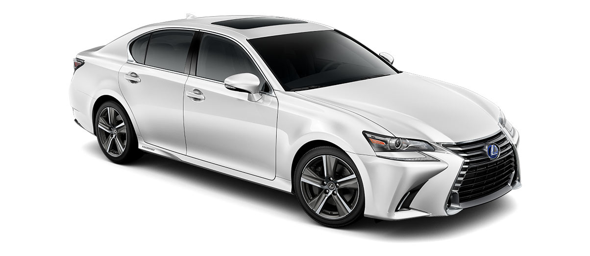 2018 gs 450h in Eminent White Pearl with '18-inch five-spoke alloy wheels<span class='tooltip-trigger disclaimer' data-disclaimers='[{\'code\':\'TIREWEAR2\',\'isTerms\':false,\'body\':\'18-in performance tires are expected to experience greater tire wear than conventional tires. Tire life may be substantially less than 15,000 miles, depending upon driving conditions.\'}]'><span class='asterisk'>*</span></span>' angle4
