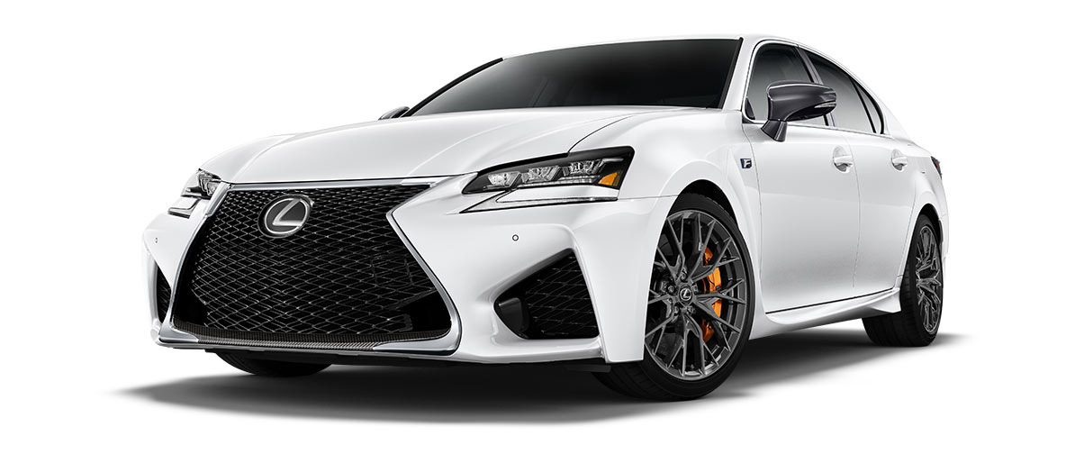 2018 gsf   in Ultra White with '19-inch split-10-spoke forged alloy wheels<span class='tooltip-trigger disclaimer' data-disclaimers='[{\'code\':\'TIREWEAR5\',\'isTerms\':false,\'body\':\'19-in performance tires are expected to experience greater tire wear than conventional tires. Tire life may be substantially less than 15,000 miles, depending upon driving conditions.\'}]'><span class='asterisk'>*</span></span>' angle1
