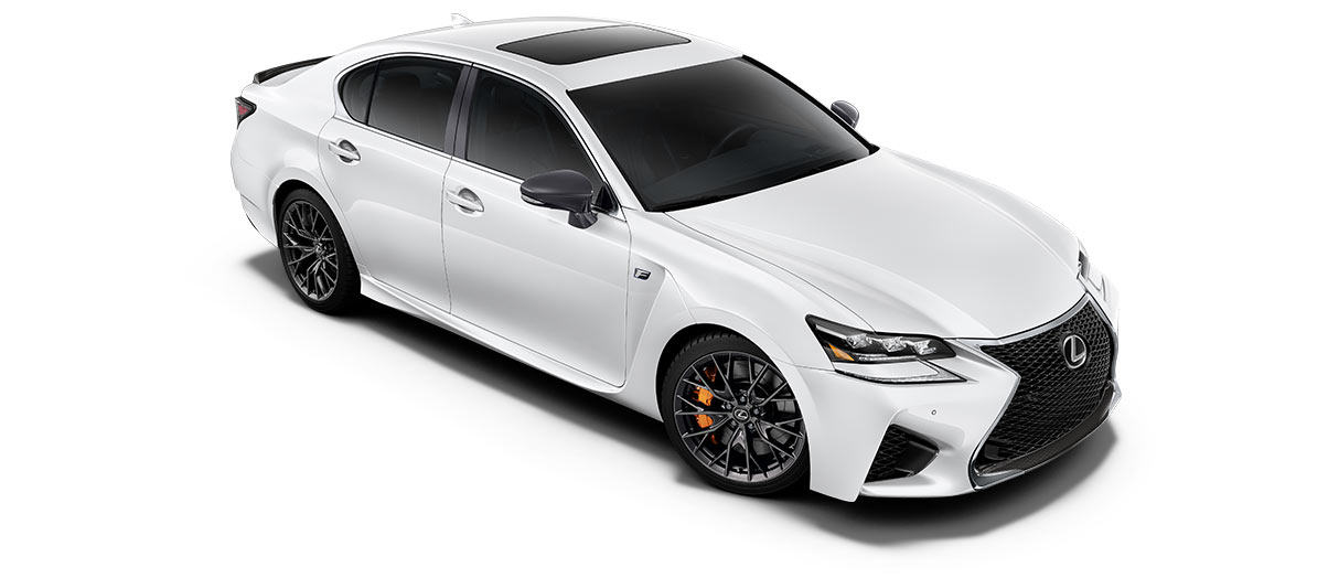 2018 gsf   in Ultra White with '19-inch split-10-spoke forged alloy wheels<span class='tooltip-trigger disclaimer' data-disclaimers='[{\'code\':\'TIREWEAR5\',\'isTerms\':false,\'body\':\'19-in performance tires are expected to experience greater tire wear than conventional tires. Tire life may be substantially less than 15,000 miles, depending upon driving conditions.\'}]'><span class='asterisk'>*</span></span>' angle3