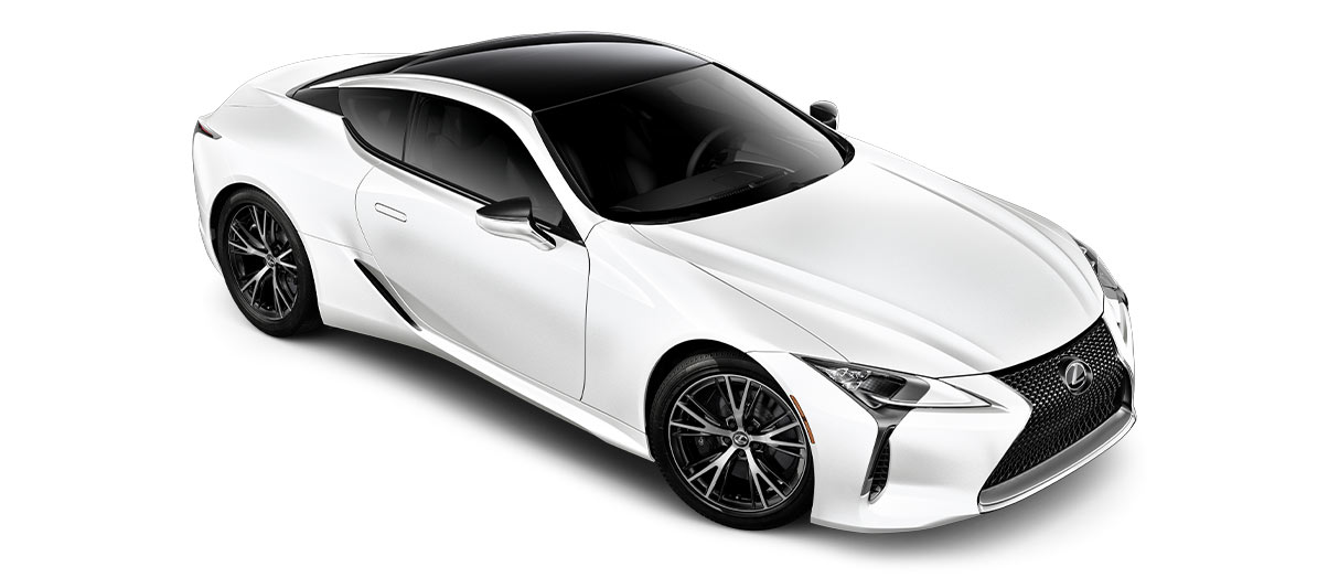 2018 lc 500 in Ultra White with '20-inch split-10-spoke cast alloy Dark Silver with machined finish' angle3